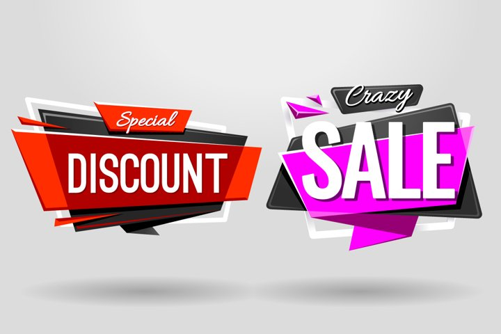 SALE BANNERS   Material Design - Free Design of The Week Design2