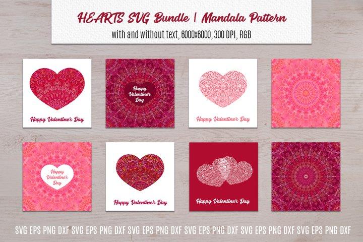 Heart SVG Valentines Bundle   Mandala Pattern