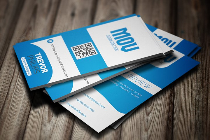 Creative Vertical Business Card Template