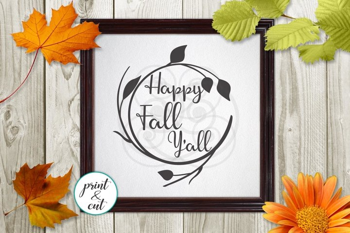 happy fall yall yall svg dxf vinyl paper cutting template
