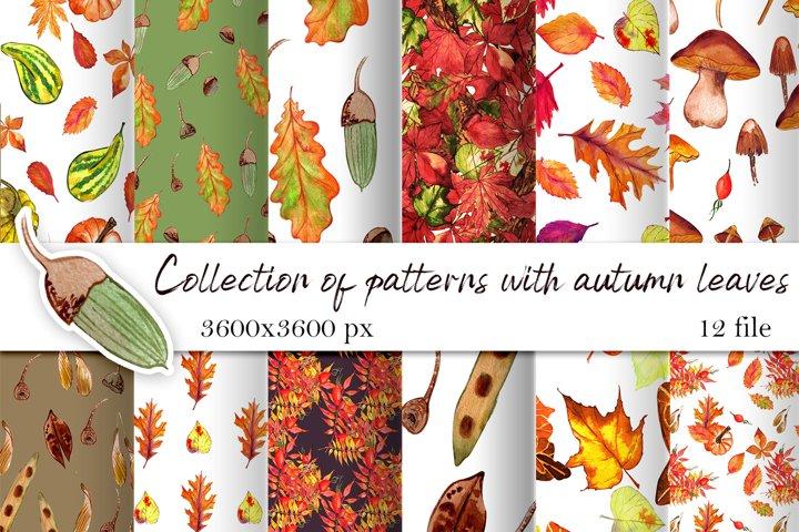Watercolor autumn digital paper.