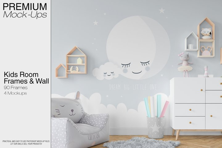 Kids Room - Wall & 90 Custom Frames