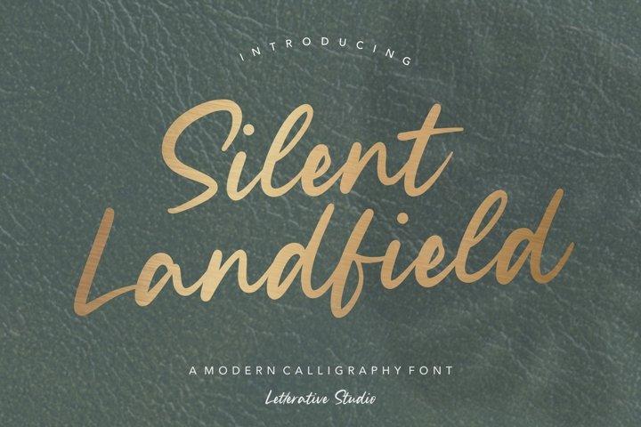 Silent Landfield Modern Calligraphy Font