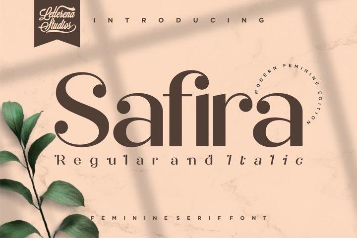 Safira- Modern Feminine SerifFont