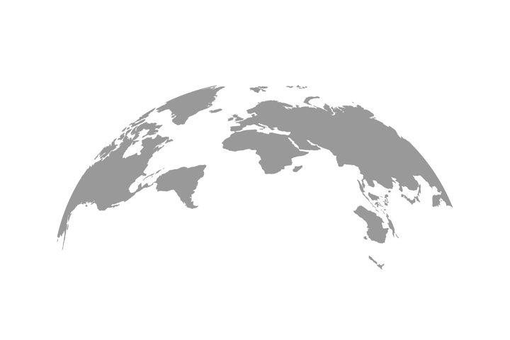 World map globe vector illustration. World map symbol