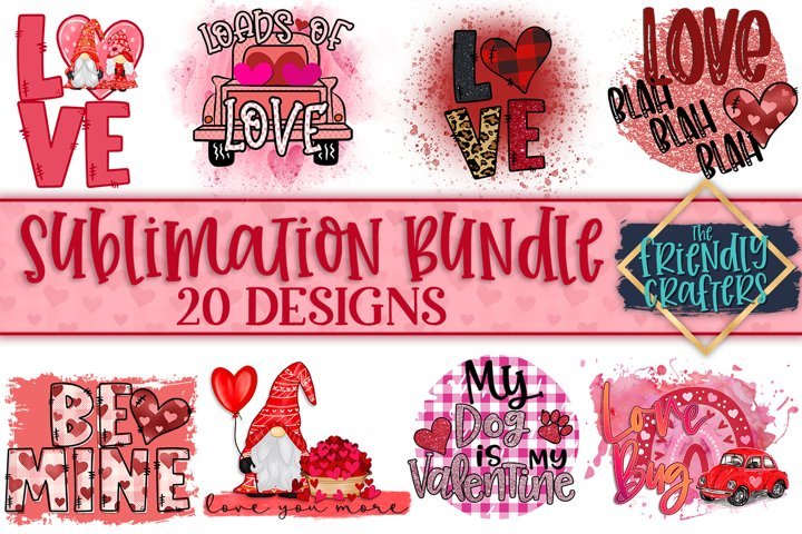 Valentines Sublimation Bundle - 20 Designs