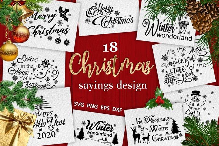 Christmas bundle svg Christmas sayings svg Winter svg