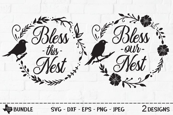 Bless Nest Bundle SVG, Cut Files, Country Shirt Design