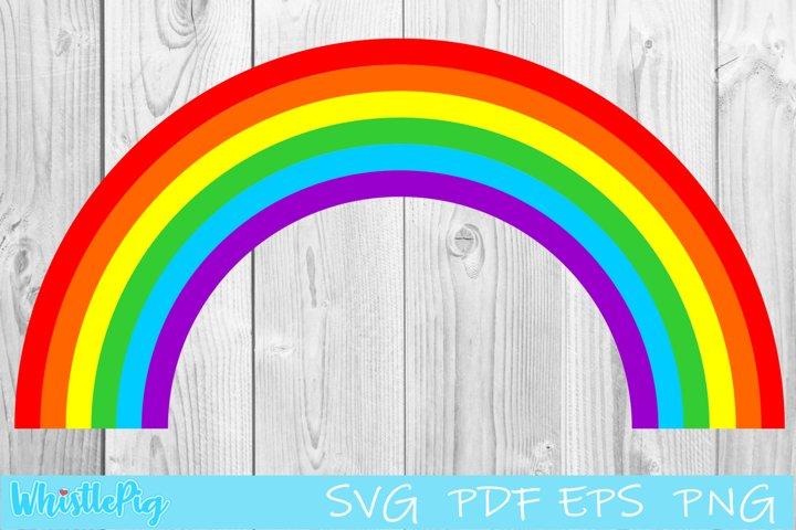 Rainbow Svg Rainbow With Clouds Svg Magic Rainbow SVG