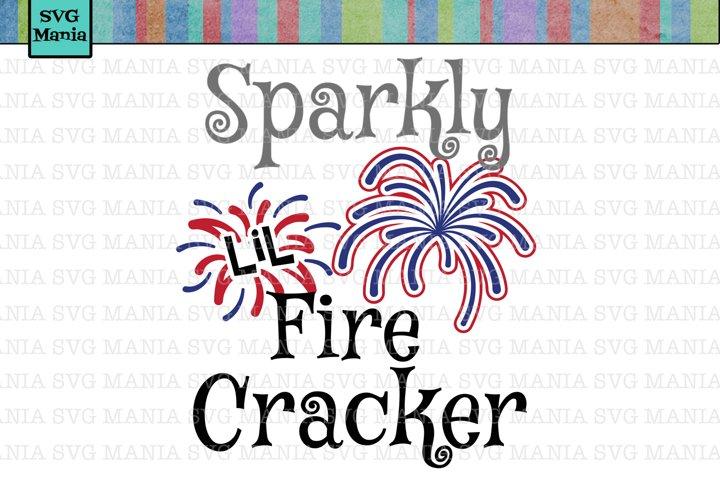 SVG File Fourth of July, Fireworks SVG, Lil Firecracker SVG Cut File, Fourth of July Shirt SVG, July 4th SVG for Girl
