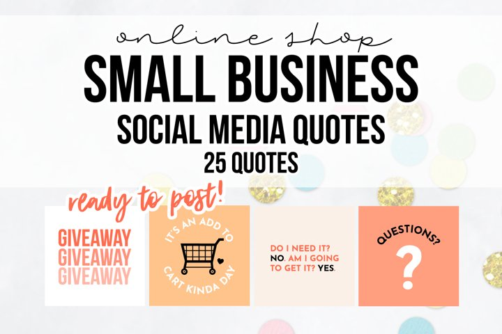 25 x Peach Online Business Social Media Quotes