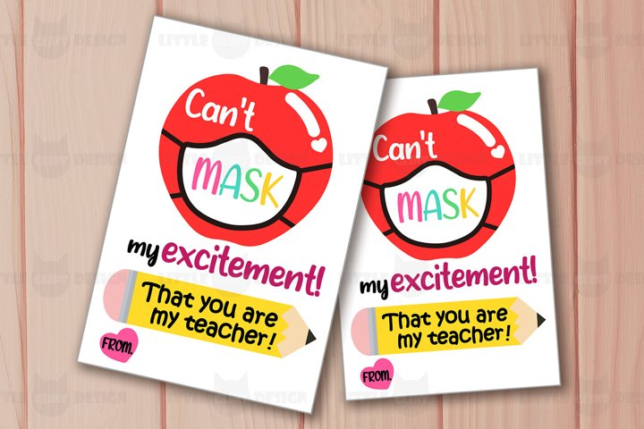Printable Face Mask Gift Tag, Teacher Thank You Template