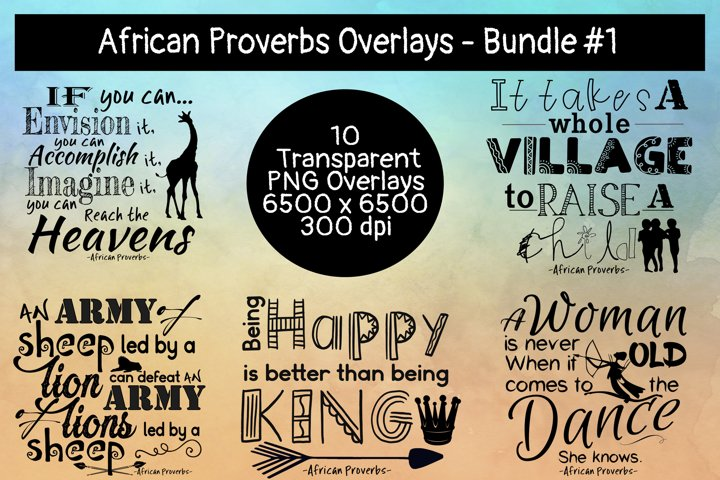 African Proverbs Overlays Bundle #1