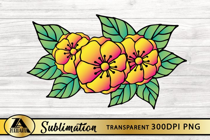 Floral Sublimation Design Flower PNG for Sublimation