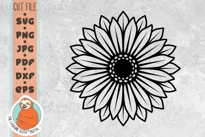 Single Sunflower SVG - Flower SVG