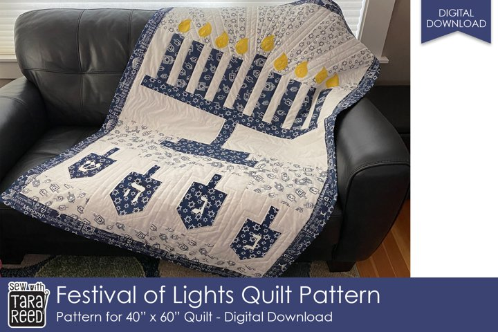 Festival of Lights Quilt Pattern - quilting pattern