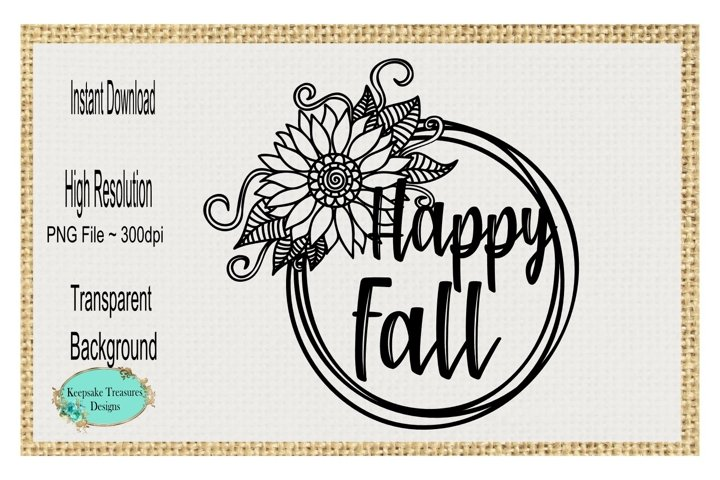 Happy Fall, Sublimation Design