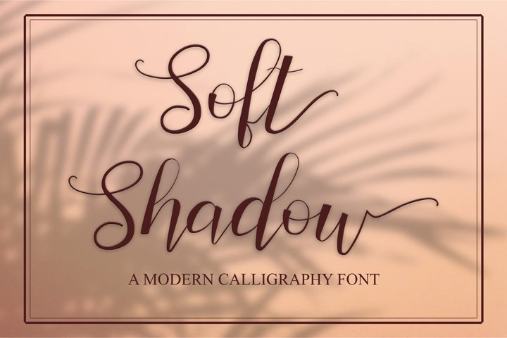 Soft Shadow - a bouncy calligraphy font with swashes