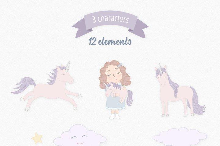 Cute Funny Unicorn Illustration Set - Free Design of The Week Design6