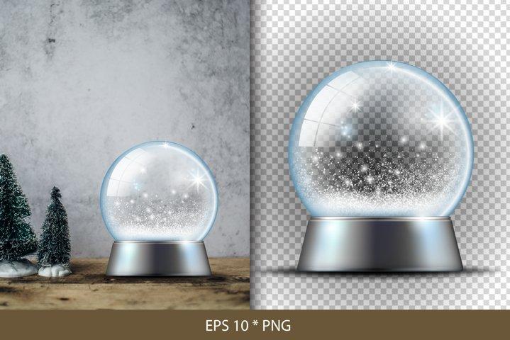 Christmas Snow Globe. Christmas design.