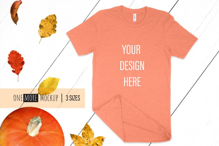Face Mask and Tshirt Mockup | Bella Canvas 3001 Sunset