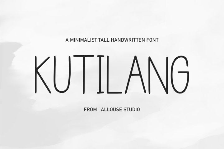 Web font - KUTILANG - Minimalist Tall Handwritten Font