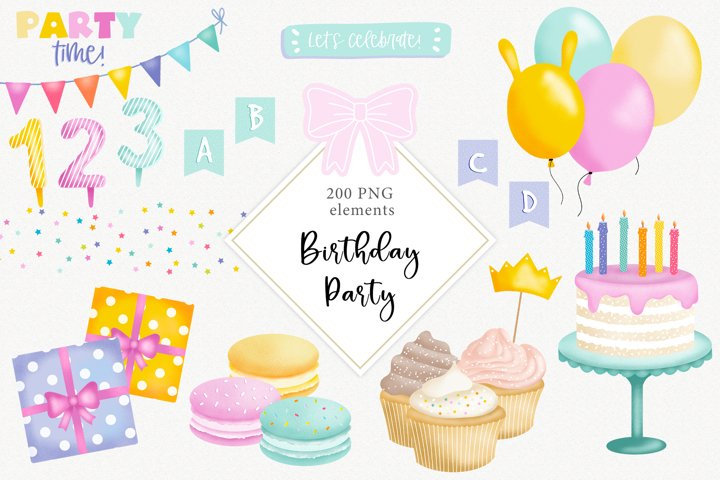 Birthday Party Clipart Collection