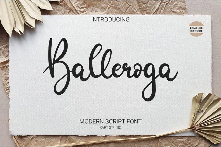 Balleroga Modern Script Font