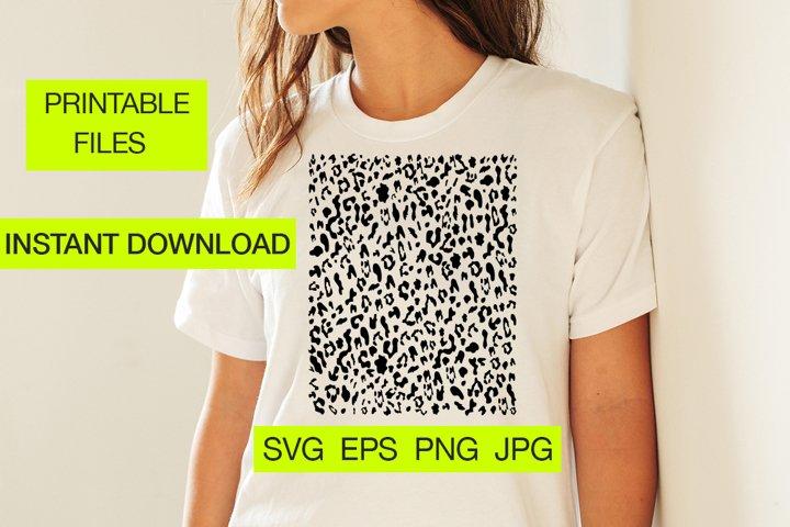 Leopard print SVG, Instant Download, Animal spots Digital EP