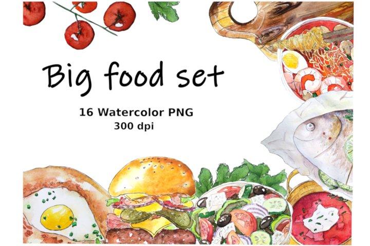 Food bundle, food clipart, menu bundle
