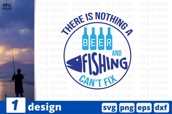 Beer and Fishing SVG cut file | Fishing weekend quote