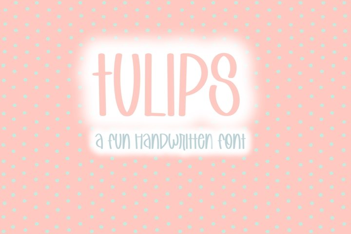 Tulips | Quirky Hand Written Font