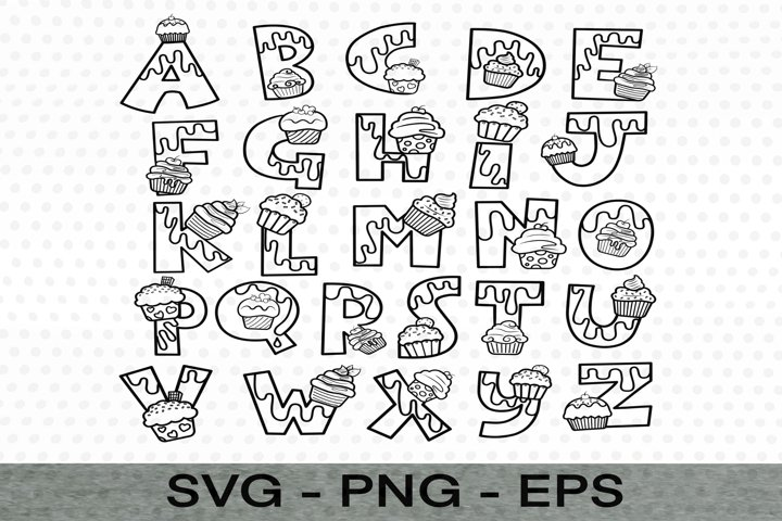 Letters A-Z style/logo SVG file, EPS Files, PNG Files