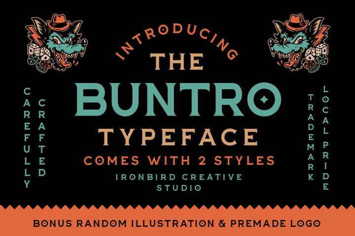The Buntro Typeface and EXTRA