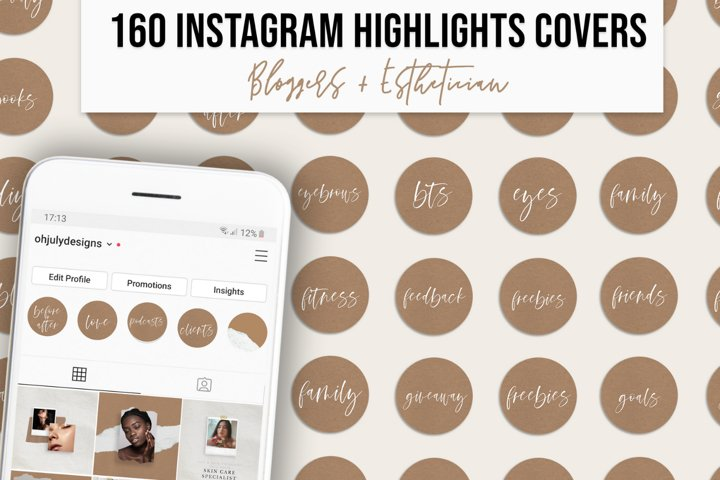Instagram Highlight Covers for Bloggers & Esthetician