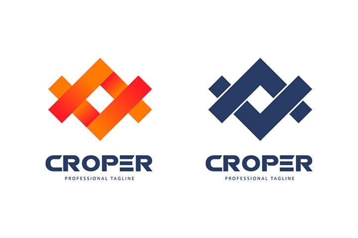 Crop Mark Premium Logo Template