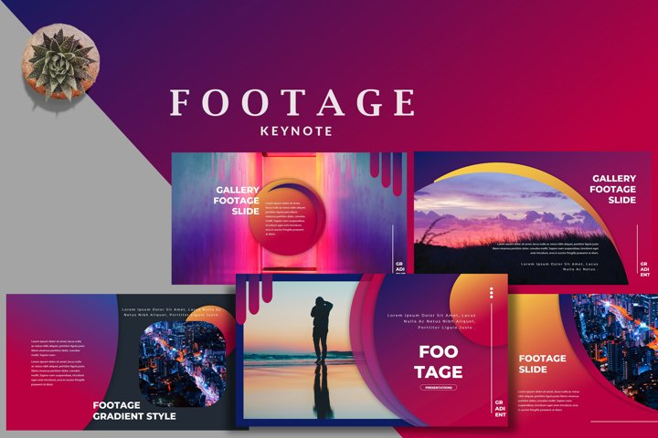 Footage Gradient - Creative Keynote Template