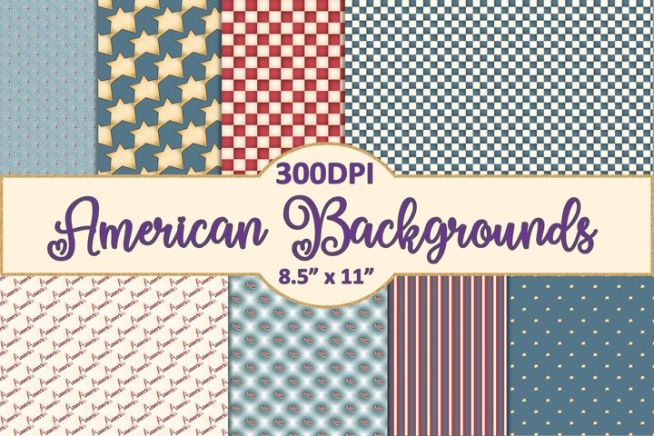 America backgrounds 8.5 x 11 JPEG