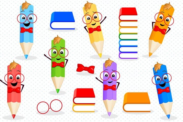 Back to school clipart, Pencils clipart
