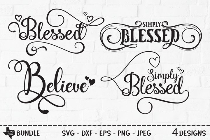 Blessed Bundle SVG, Cut Files, Christian Shirt Design