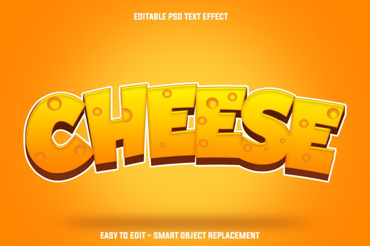 cheese text effect