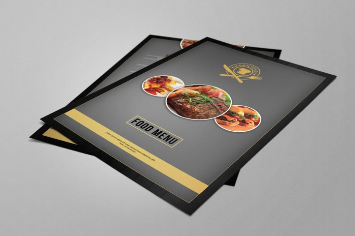 Simple Restaurant Food Menu Flyer PSD Template