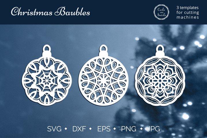 Christmas Baubles SVG, Christmas ball SVG, Cricut SVG bundle