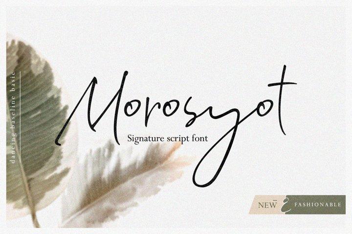 Morosyot Script Signature