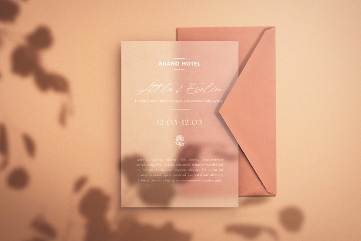 Save the Date - Paper Mockup
