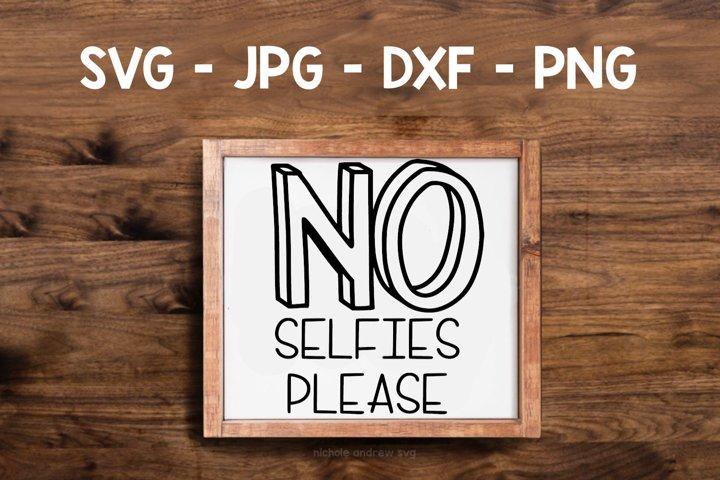 No Selfies Please- A Bathroom Humor SVG