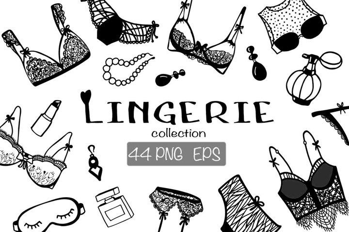 Lingerie Digital Clipart.