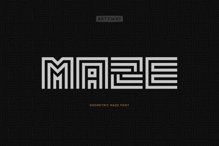 Geometric Maze Font