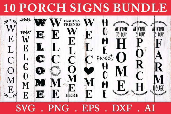 SALE! 10 Porch signs bundle svg, welcome porch sign svg