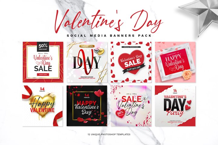 Valentines Day Banner Pack
